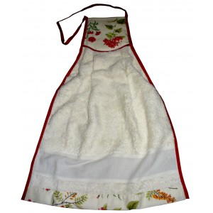 Stitchable Terry Dishtowels - Red Flowers
