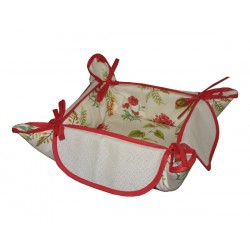 Bread Basket Ready to Cross Stitch - Red Flowers