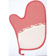 Oven Glove to Cross Stitch - Red
