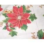 Christmas Dish Towel with Poinsettias