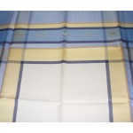 Square Tablecloth to Cross Stitch - Light Blue - Manuela
