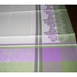 Square Tablecloth to Cross Stitch - Violets