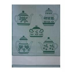 Kitchen Towel - Green Teapot