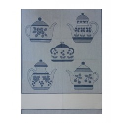 Kitchen Towel - Blue Teapot
