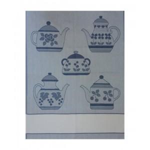 Paño de Cocina - Tetera Azul
