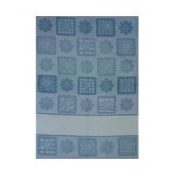 Dishtowel - Flower Power - Blue