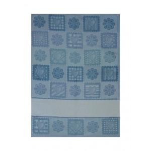 Asciugapiatti  - Fiori e Cuori Blu