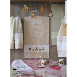Fratelli Graziano - Terry Christmas Dish Towel - Gingerbread - Honey Color