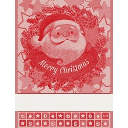 DMC - Kitchen Towel with Santa Claus - Red