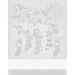 DMC - Christmas Kitchen Towel Elves - Silver