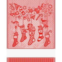 DMC - Christmas Kitchen Towel Elves - Red