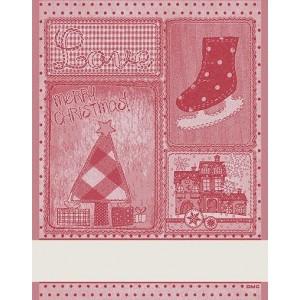 DMC - Asciugapiatti Natalizio - Retro -  Rosso