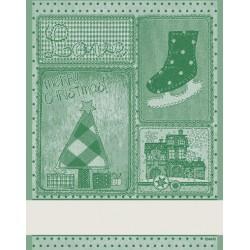 DMC - Christmas Kitchen Towel Retro - Green