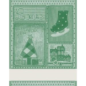 DMC - Asciugapiatti Natalizio - Retro -  Verde