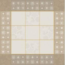 DMC Ready to Stitch Tea Tablecloth - Gold Ecru - Santa Claus