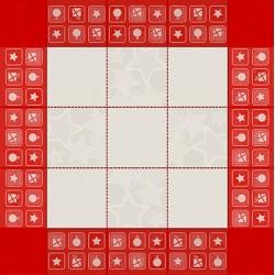 DMC Ready to Stitch Tea Tablecloth - Red - Santa Claus