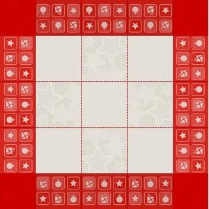 DMC Tovaglietta da Té Ricamabile - Colore Rosso - Babbo Natale