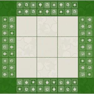 DMC Tovaglietta da Té Ricamabile - Colore Verde - Babbo Natale