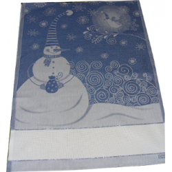DMC - Kitchen Towel with Snowman - Blue