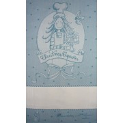 Fratelli Graziano - Christmas Dish Towel - Cake - Color Deep Blue