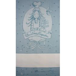 Fratelli Graziano - Paño de Cocina Navidad - Dulces - Color Azul