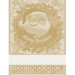 DMC - Kitchen Towel with Santa Claus - Gold Ecru'