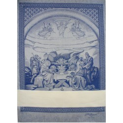 Fratelli Graziano - Christmas Dish Towels Nativity - Blue