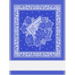 Christmas Kitchen Towel - Blue Poinsettia