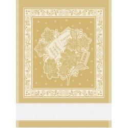 Christmas Kitchen Towel - Gold Poinsettia