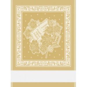 Asciugapiatti Natalizio con Stelle di Natale - Oro