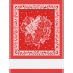 Christmas Kitchen Towel - Red Poinsettia