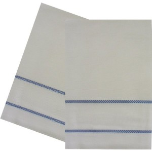 Kitchen Towel with Aida Band - Blue Border