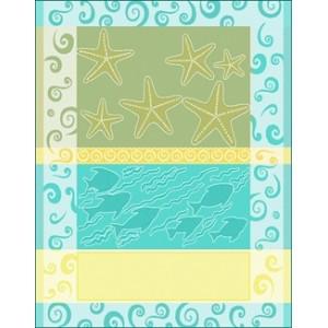 DMC - Deco Home 2012 - Paño de Cocina Estrellas de Mar y Conchas