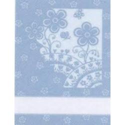 Kitchen Towel Flowers - Blue