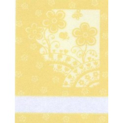Kitchen Towel Flowers - Yellow