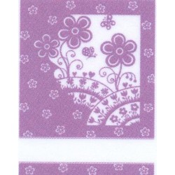 Kitchen Towel Flowers - Lilac