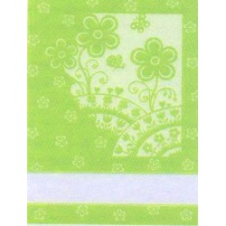 Kitchen Towel Flowers - Green