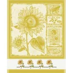 DMC - Paño de Cocina con Girasoles - Amarillo