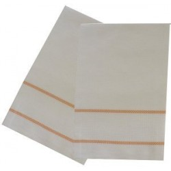 Kitchen Towel with Aida Band - Yellow Border