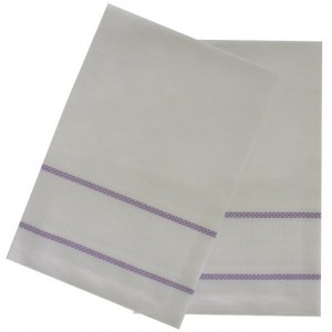 Kitchen Towel with Aida Band - Lilac Border