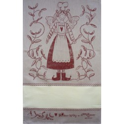 Fratelli Graziano - Christmas Dish Towel - Angel - Color Bordeaux