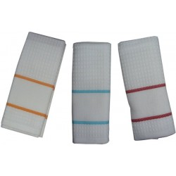 Honeycomb Kitchen Towel with Aida Band