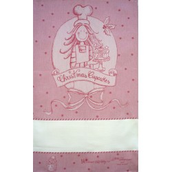 Fratelli Graziano - Christmas Dish Towel - Cake - Color Pink