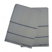 Kitchen Terry Towel with Aida Band - Blue Border