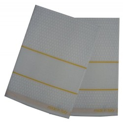 Kitchen Terry Towel with Aida Band - Yellow Border