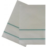 Kitchen Towel with Aida Band - Green Border