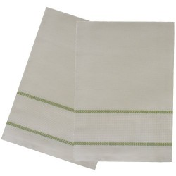 Kitchen Towel with Aida Band - Light Green Border