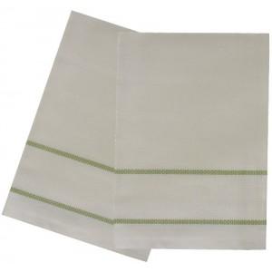 Kitchen Towel with Aida Band - Light Green Border
