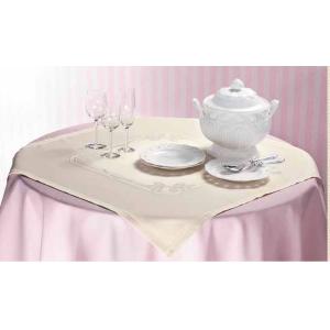 Ready to Stitch Tea Tablecloth Bow Cream - 85x85 cm