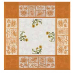 Orange Tablecloth with Sunflowers 90x90 cm